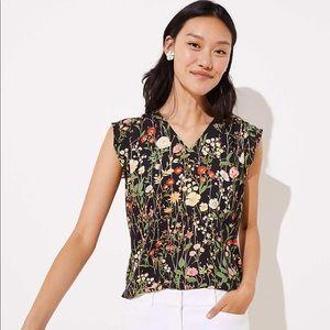 LOFT sleeveless v neck blouse
